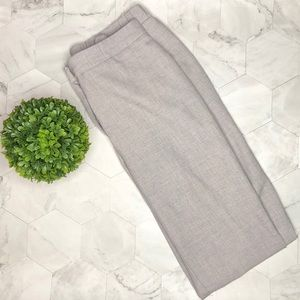 Grey Cropped Work Pants